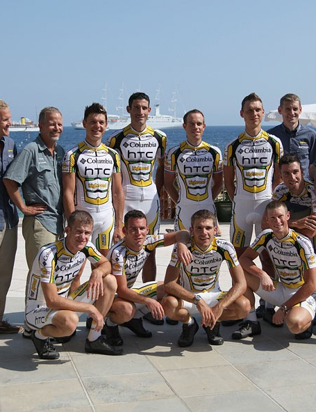Team HTC-Columbia in Monaco before the start of the 2009 Tour