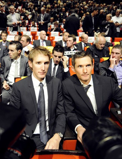 Denis Menchov, Andy and Frank Schleck