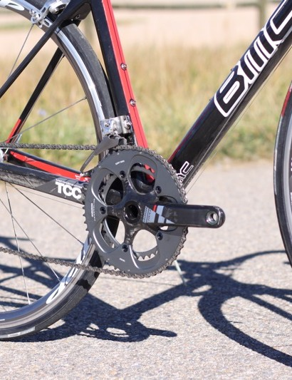 Despite the BB30 bottom bracket the pedaling stiffness of the TeamMachine is less than other professional series bikes