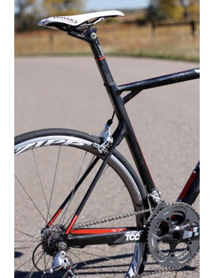 Paired with the seat post the TCC seatstays give the TeamMachine an incredibly smooth ride