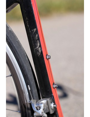 BMC equips the TeamMachine with titanium water bottle bolts
