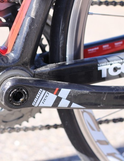 SRAM's Red BB30 crank is a highlight of the component package