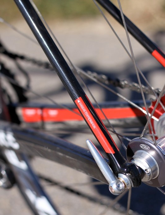 The TCC weave on the seatstays