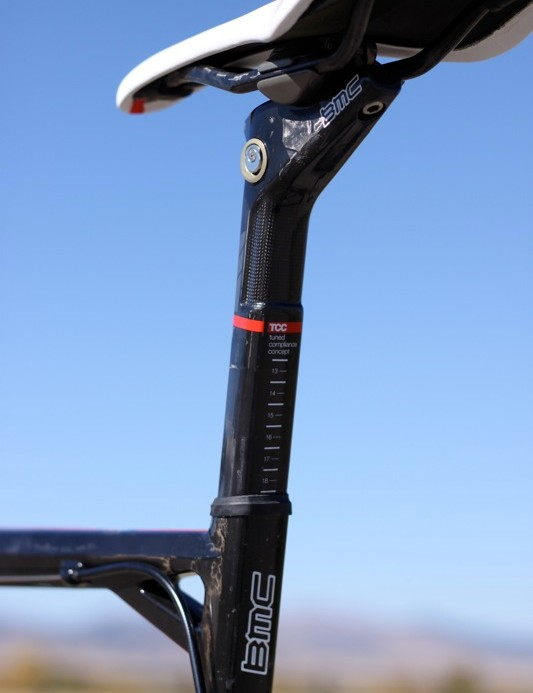 The TCC weave also shows through on the seatpost