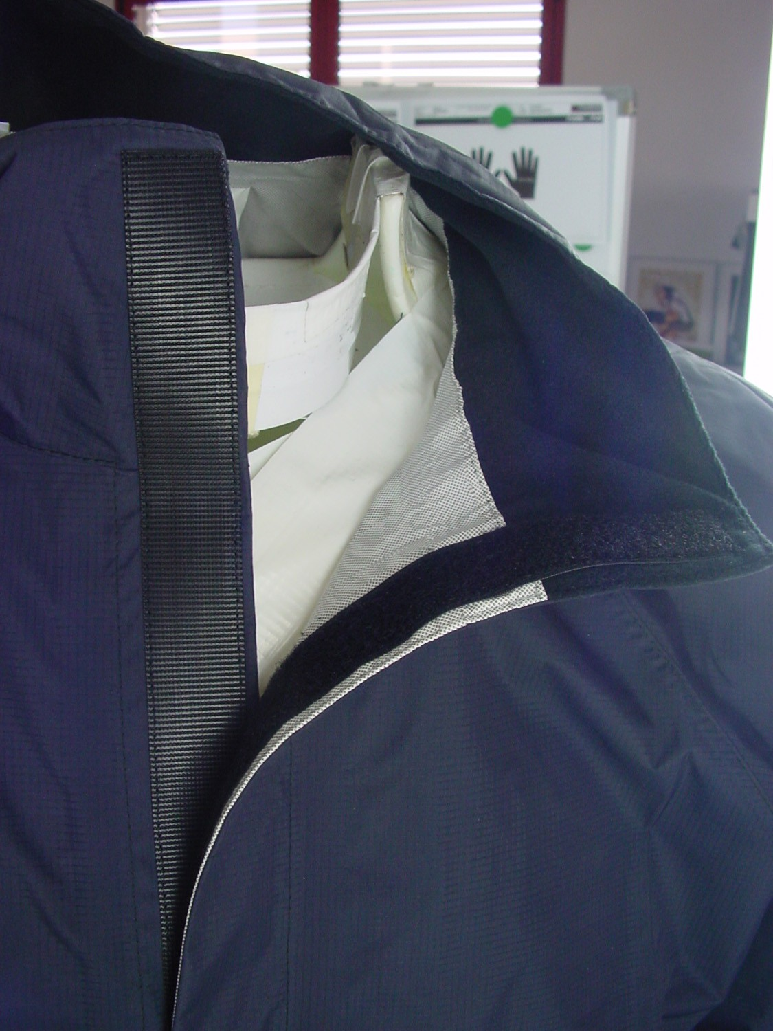 The full-Velcro front is said to be easier to put on – and take off – while you're on the bike