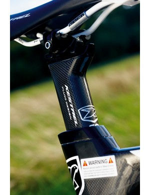 The seat post gets an angle- and position-adjustable head to provide the perfect geometry for your pedaling style