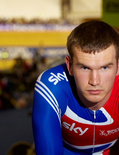 David Daniell, part of the English team sprint line-up
