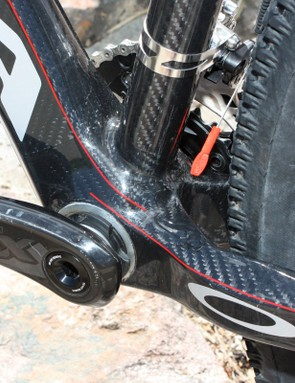 Orbea outfits the Alma 29 with a BB30 bottom bracket