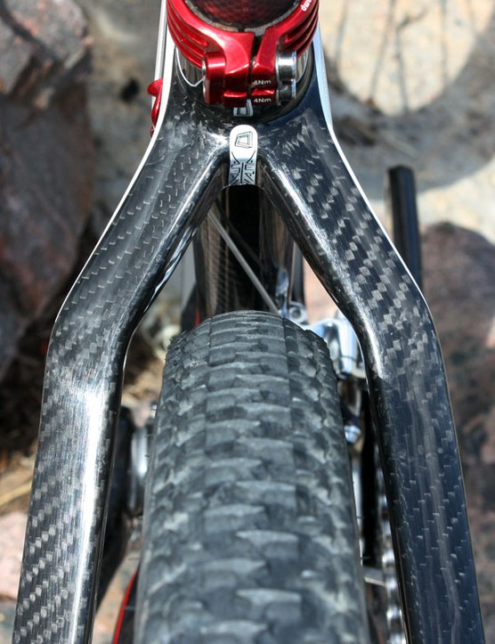 Tire clearance could be better, especially considering the fairly narrow profile of the stock Hutchinson Python tires