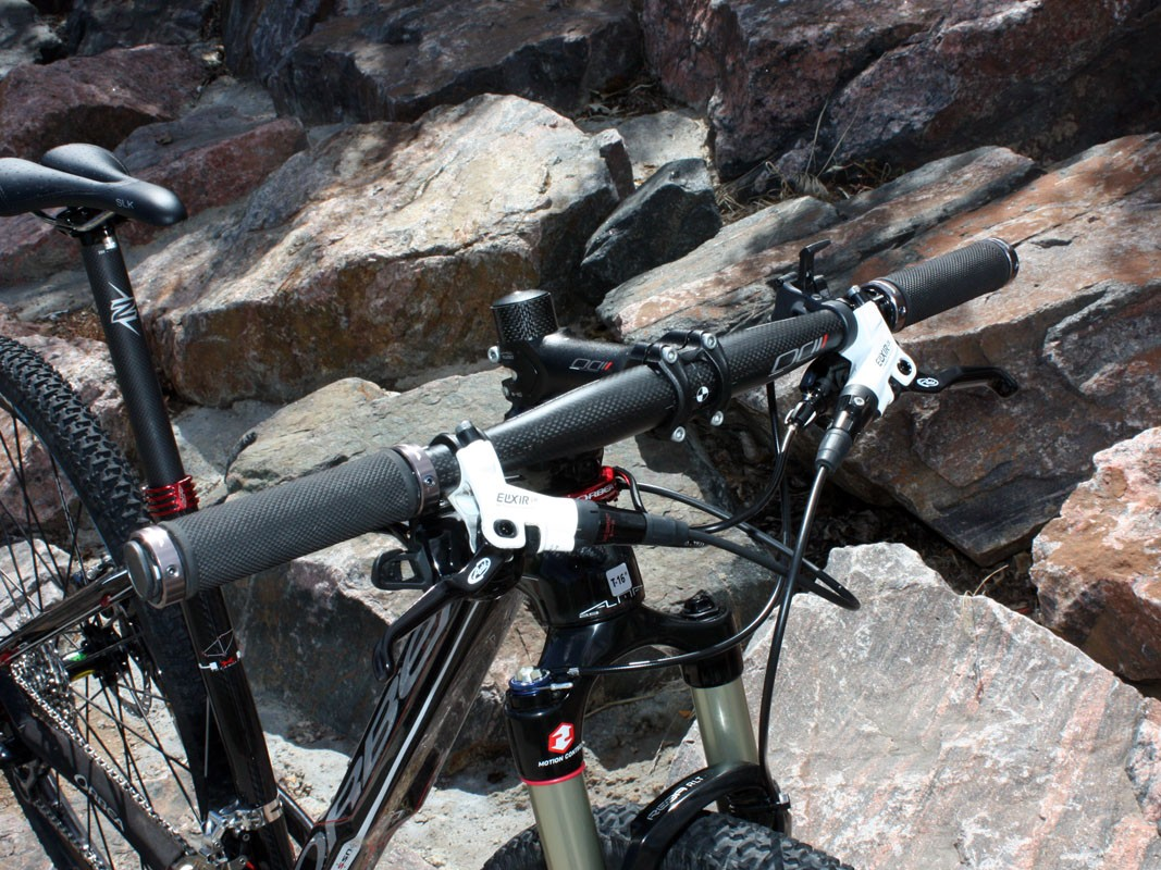 The stock handlebar is far too narrow for our tastes and should be among the first things to swap out on a stock build