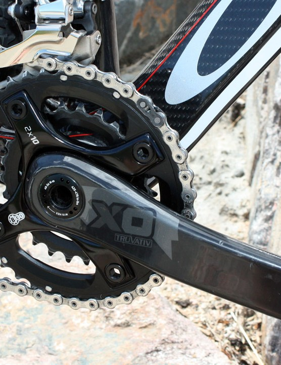 The 39/26T spread on the SRAM X0 2x10 crank is a good match for the larger 29