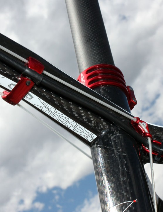 The trick DCR cable routing setup keeps the lines fully sealed from end to end while Gore cables and liners run with noticeably less friction than usual