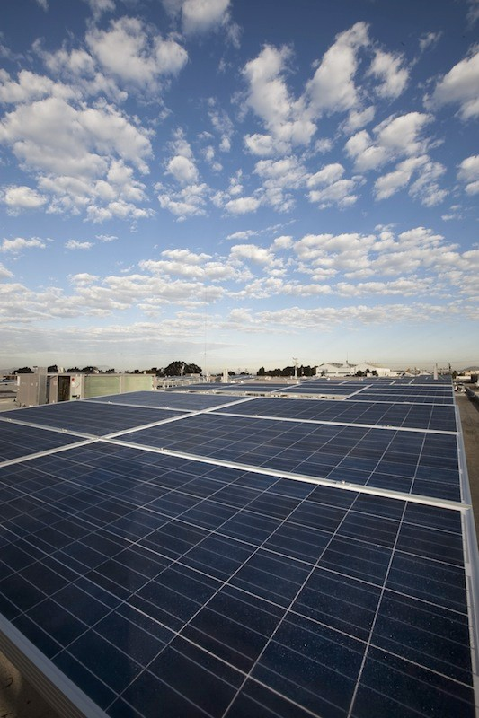 North America's largest installation of smart solar panels highlights the headquarters' green remodel