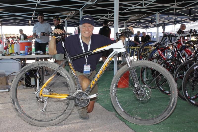 Joe Breeze and his latest carbon fiber Cloud 9 Pro model