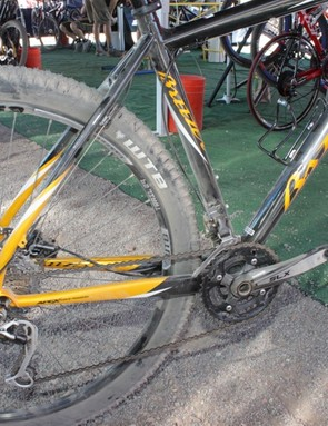 The Cloud 9's seat tube bends to accommodate the rear wheel