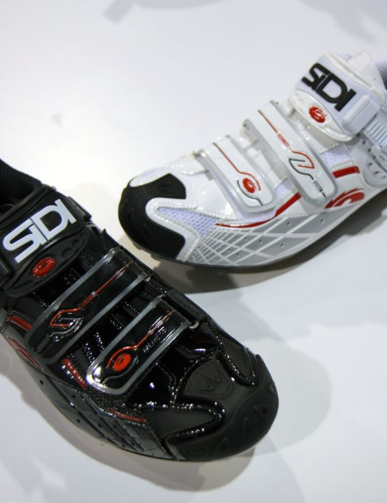 New for 2011 are white and all-Lorica versions of Sidi's Spider
