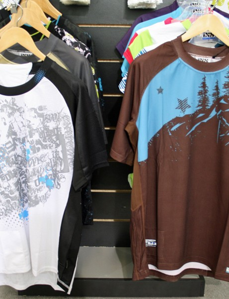 iXS Trigger (left) and Elict (right) all-mountain/freeride jerseys