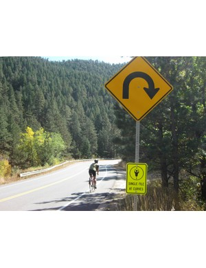 New road signs in Boulder County, Colorado have caused concern among cyclists