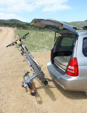 The tilt-down feature allows quick access to the rear hatch