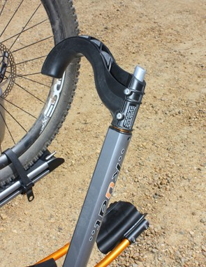 We were worried at first about the tire hook's plastic construction but it never became an issue during testing and is impressively solid.  The grippy interior edge provides a notably secure grip, too