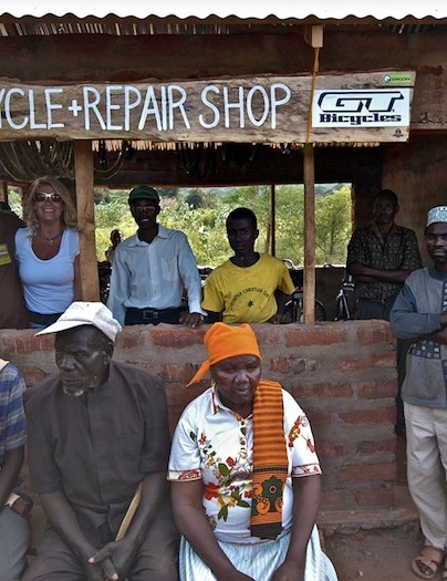 The opening of the first Wheels4Life bike shop in Kivisini, Tanzania
