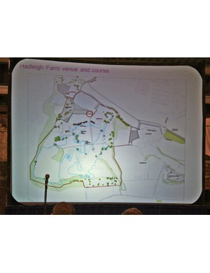 A provisonal map of the course