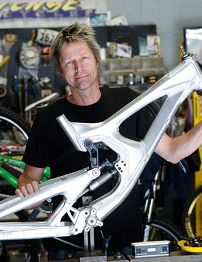 Jeff Steber shows off a prototype M9 frame