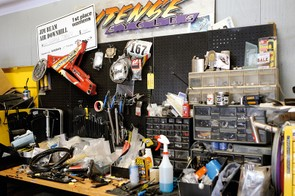 Jeff's workbench has produced some of the greatest downhill bikes ever