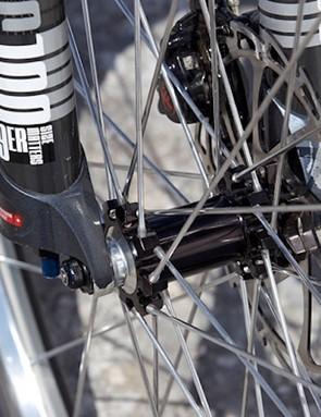 Industry Nine hubs and custom polished spokes