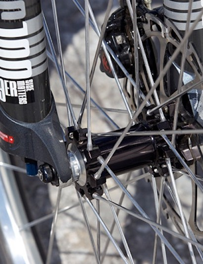 Industry Nine hubs and custom polished spokes