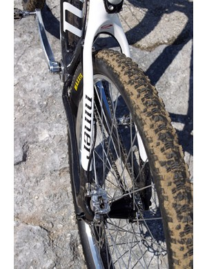 Weinberg bought the Maxxis Aspen eXCeption tires via Ebay because they're not readily available in New Zealand