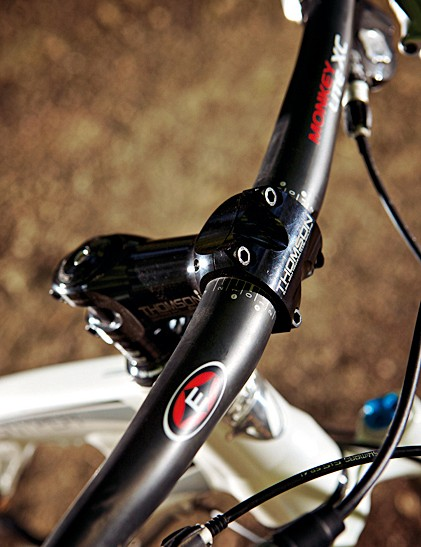 Easton and Thomson are just two of the high end brands featured on our test bike