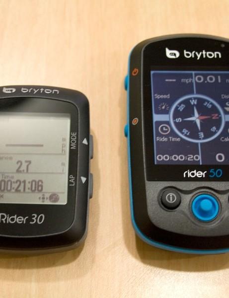 The Bryton Rider 30 and Rider 50 GPS cycling computers