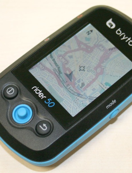 The Bryton Rider 50 uses OpenStreetMap