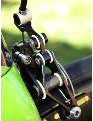 Big composite pivot bushings are durable and slop-free