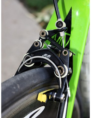 The front-mounted spring is a bit industrial looking but simple and effective