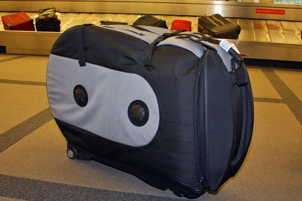 Yep, we didn't just play with our test case at home - we flew with it, too, and the Biknd Helium has proven to be highly protective and easy to live with.  Pro road teams Garmin-Transitions and Radio Shack apparently agree as they've both made the Biknd the official travel case for its riders