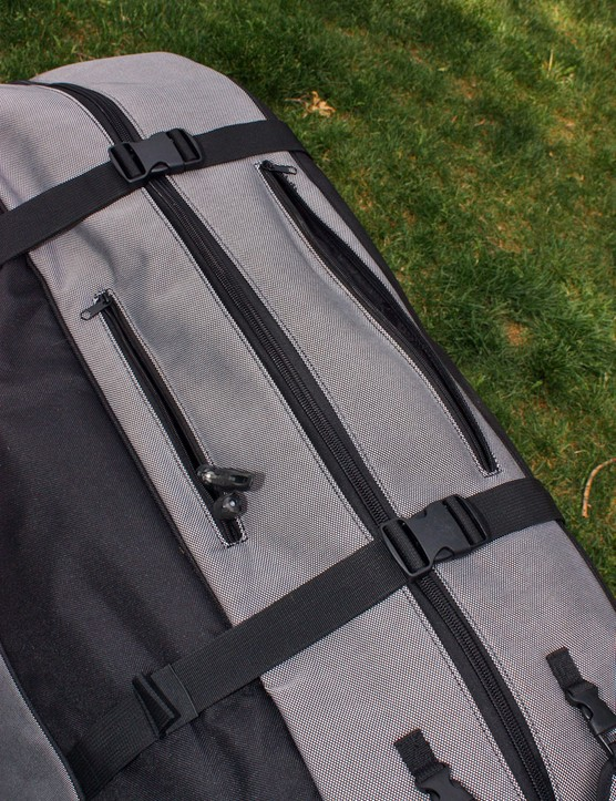 A pair of zippered pockets up top are on hand for small bits like skewers and pedals