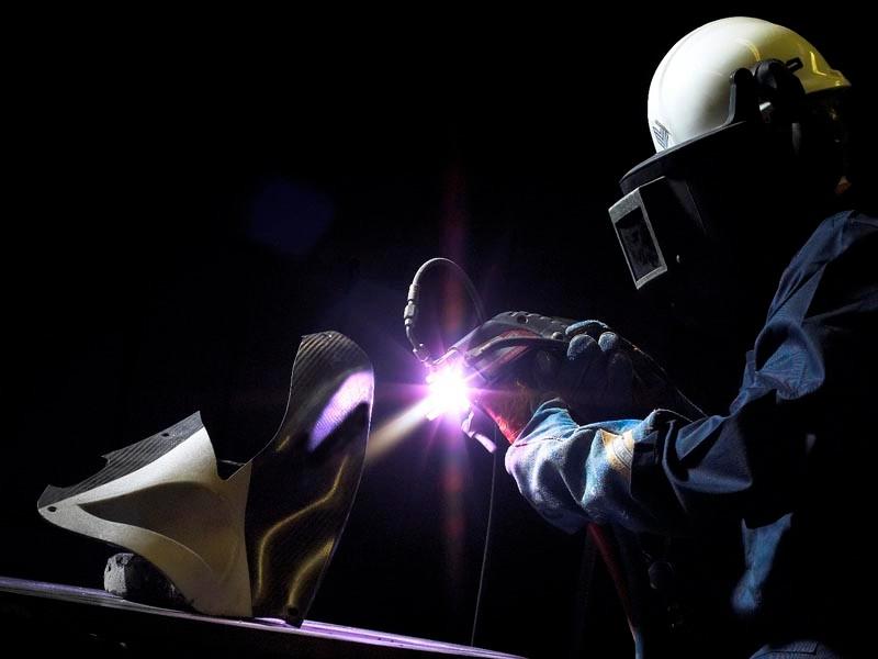 Zircotec apply a coating to a carbon fibre car part