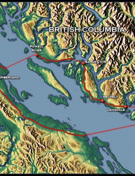 The 2011 BC Bike Race route
