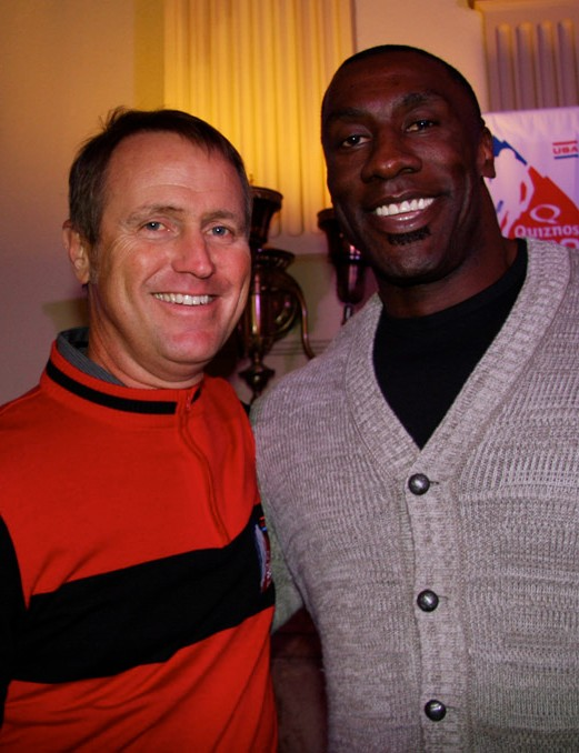 Chris Carmichael, of CTS representing Colorado Springs, and former Broncos tight end, Shannon Sharpe