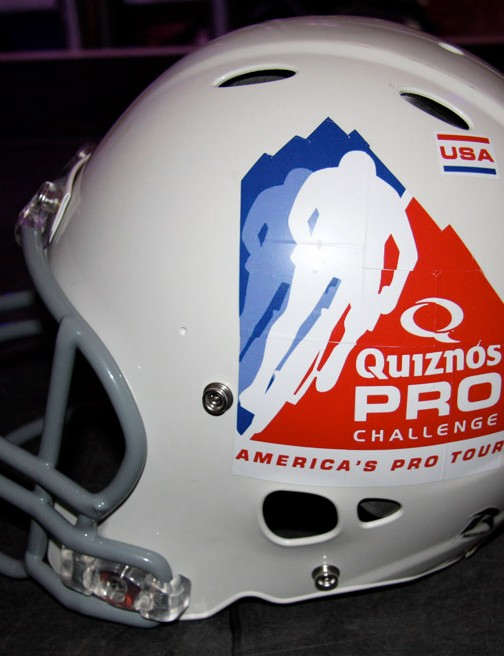 Quiznos is working at making an American football to cycling connection