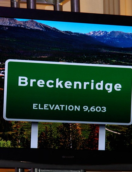 The stage 6 finish town of Breckenridge is the highest of the selected cities