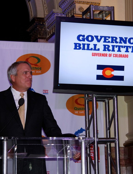 Exiting Governor Bill Ritter was instrumental in making the race a reality