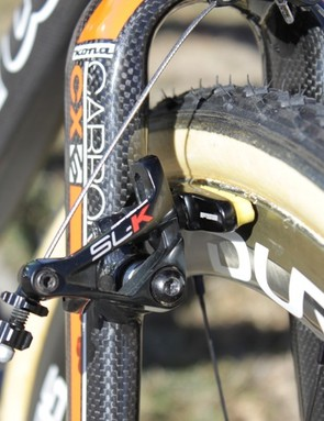 FSA's SL-K cantilever brakes have in-line cable adjustment and super-stiff forged arms