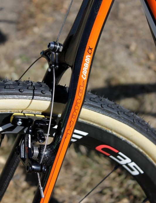 The CX Major Jake has svelte seatstays that surely offer a comfortable ride