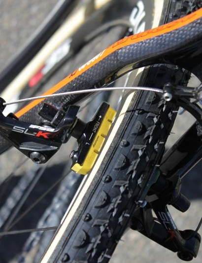SwissStop's Yellow King brake pads are almost as ubiquitous as Dugast tires on the US cyclo-cross circuit
