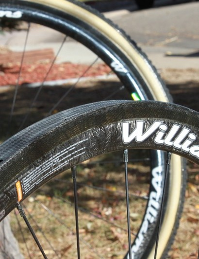 Williams' wide rimmed prototype cyclo-cross wheelset