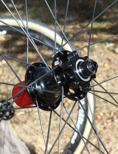 The wheelset is built with a 130mm spaced Chosen rear hub