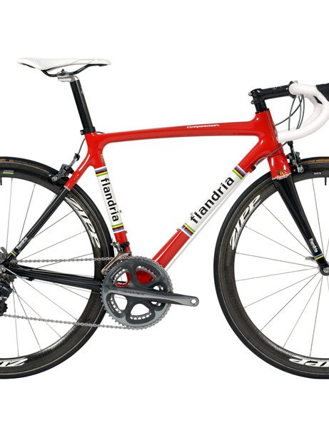 Flandria's Competition is billed as a great all-rounder. The carbon fibre frame features Nanotube technology